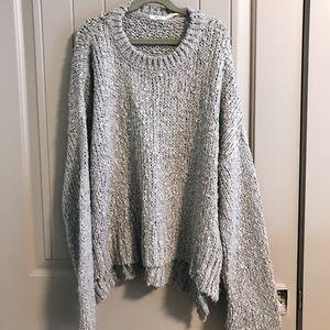 UO kimchi blue grey oversized knit sweater